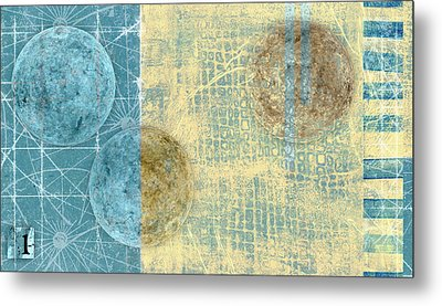 Star Chart Landing Pattern Metal Print by Carol Leigh