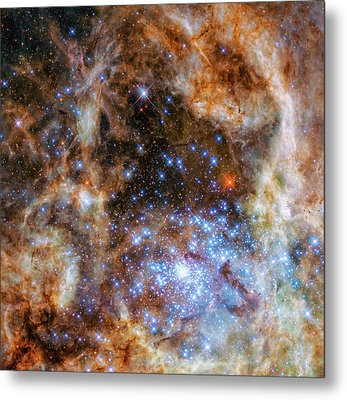 Metal Print featuring the photograph Star Cluster R136 by Marco Oliveira