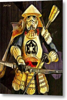 Star Wars Samurai Trooper - Pa Metal Print by Leonardo Digenio