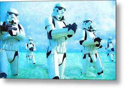 Star Wars Stormtrooper Patrol - Pa Metal Print by Leonardo Digenio