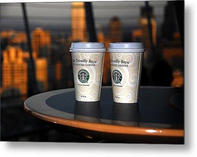 Starbucks At The Top Metal Print by David Lee Thompson