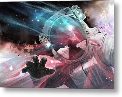 Metal Print featuring the digital art Stardust by Steve Goad