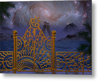 Stargate-temple-galaxy Metal Print by Terry Anderson
