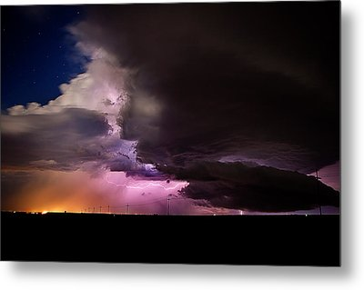 Starry Thunder Metal Print
