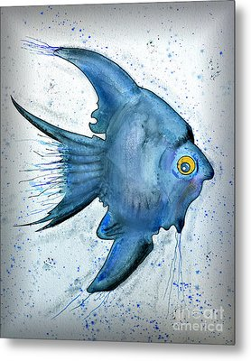 Startled Fish Metal Print by Walt Foegelle
