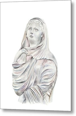 Metal Print featuring the painting Statue by Elizabeth Lock
