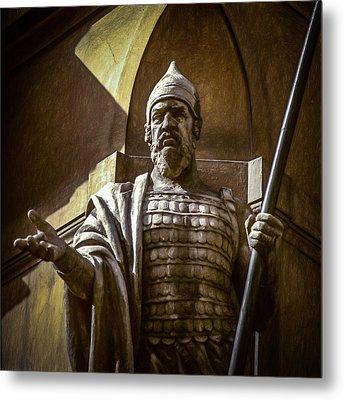 Statue In Praha Metal Print by Robert Meyerson