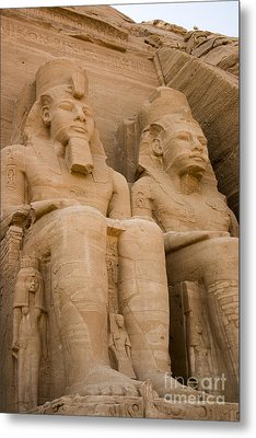 Statues At Abu Simbel Metal Print by Darcy Michaelchuk