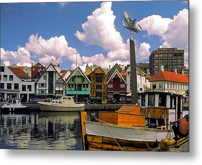 Stavanger Harbor Metal Print by Sally Weigand