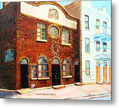 St.dominique Street Synagogue Metal Print by Carole Spandau