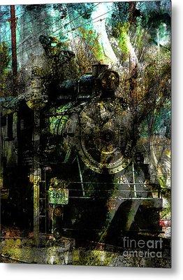 Steam Engine At Bay Metal Print by Robert Ball