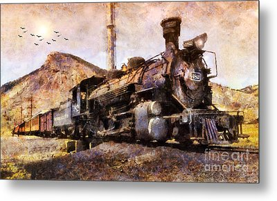 Metal Print featuring the digital art Steam Locomotive by Ian Mitchell