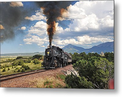 Steaming Towards La Veta Metal Print