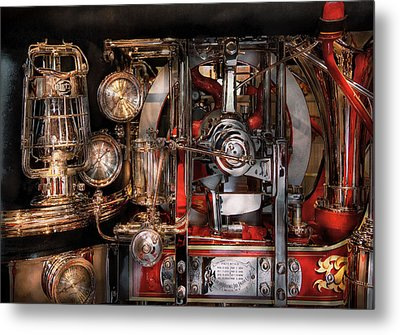 Steampunk - Check The Gauges  Metal Print by Mike Savad