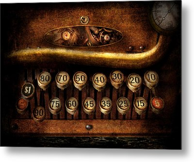 Steampunk - Remuneration Mechanism Metal Print by Mike Savad