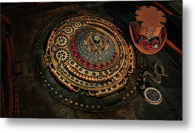 Metal Print featuring the photograph Steampunk by Louis Ferreira