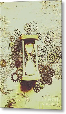 Steampunk Time Metal Print
