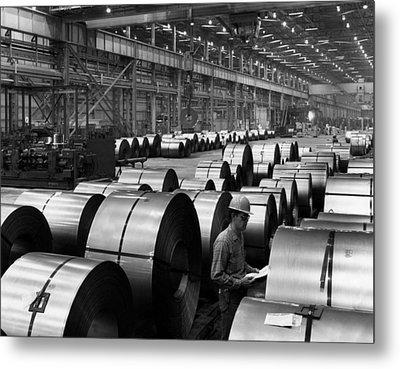 Steel Mill Metal Print by Everett