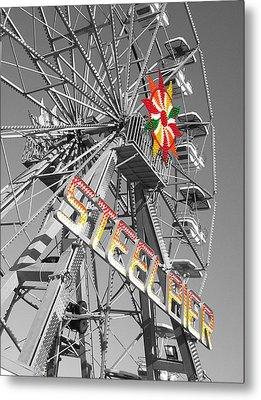 Steel Pier Metal Print by Heather Weikel
