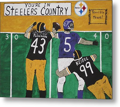 Steelers Country Metal Print by Jeffrey Koss