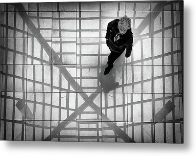 Metal Print featuring the photograph Stepping Into The Web by John Williams