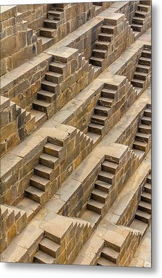 Steps At Chand Baori Metal Print by Nila Newsom