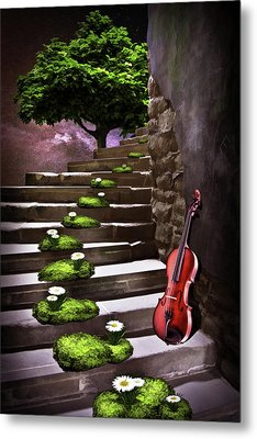 Steps Of Happiness Metal Print by Mihaela Pater