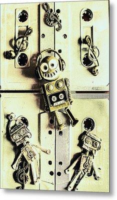 Stereo Robotics Art Metal Print