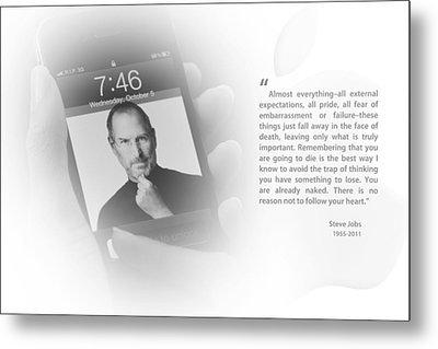 Steve Jobs 3 Metal Print
