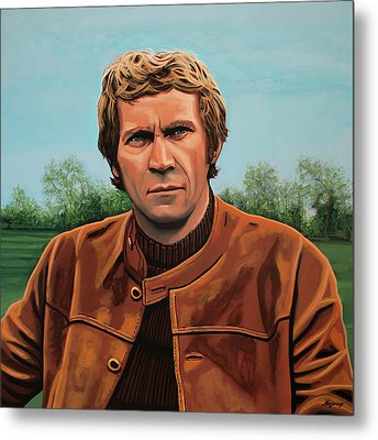 Steve Mcqueen Painting Metal Print by Paul Meijering