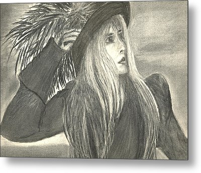 Stevie Nicks Metal Print by Gina Cordova