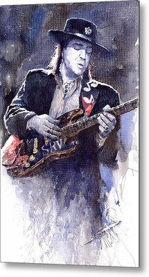 Stevie Ray Vaughan 1 Metal Print by Yuriy  Shevchuk