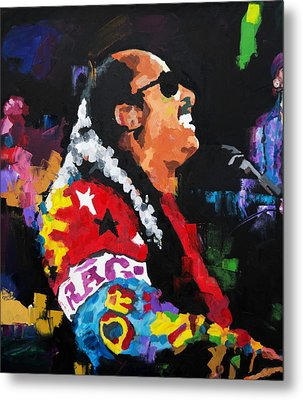 Stevie Wonder Live Metal Print by Richard Day
