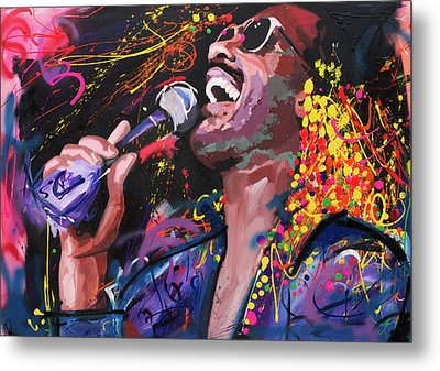 Stevie Wonder Metal Print by Richard Day