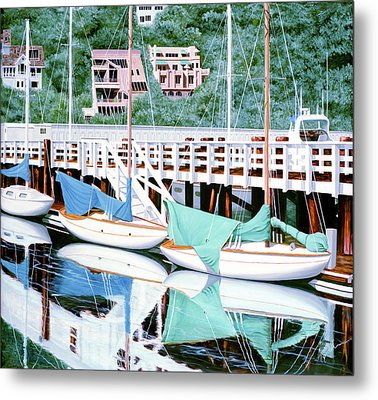 Still In Sausalito - Prints From My Original Oil Painting Metal Print