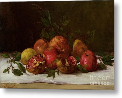 Still Life Metal Print by Gustave Courbet