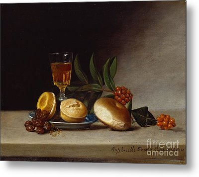 Still Life With A Wine Glass Metal Print