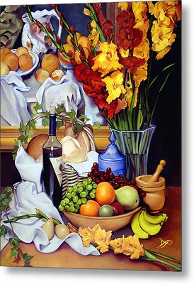 Still Life With Cezanne Metal Print by Patrick Anthony Pierson