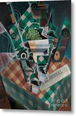 Still Life With Checked Tablecloth, 1915 Metal Print