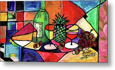 Still Life With Fruit And Wine #303 Metal Print