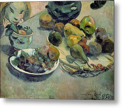 Still Life With Fruit Metal Print by Paul Gauguin