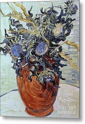 Still Life With Thistles Metal Print by Vincent van Gogh