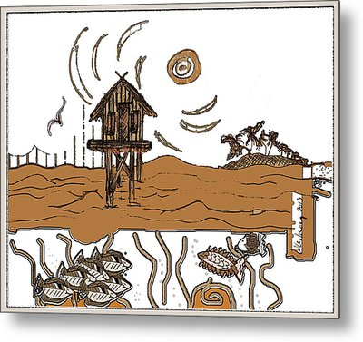 Stilt House Metal Print