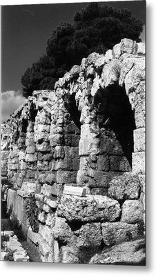 Stoa Of Eumenes Athens Metal Print by Susan Chandler