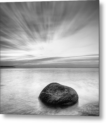 Stone In The Sea Metal Print