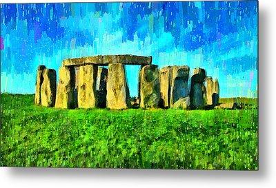 Stonehenge 3 - Da Metal Print