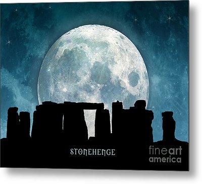 Metal Print featuring the digital art Stonehenge by Phil Perkins