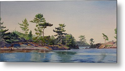 Stoney Lake Morning Metal Print by Debbie Homewood