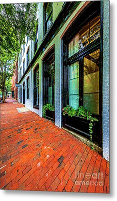 Storefronts With Flower Boxes In Shockoe Slip 7206vtvg1 Metal Print