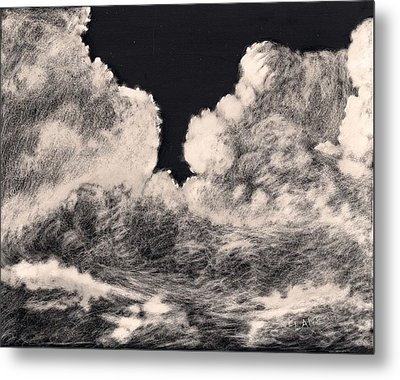 Storm Clouds 1 Metal Print by Elizabeth Lane